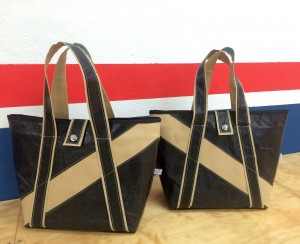 Tote Bags made from recycled 3Di Carbon sails